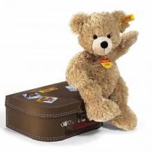 Steiff-Teddybär Fynn m. Koffer 28cm