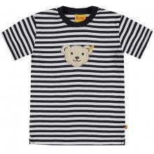 Steiff Basic T-Shirt, geringelt - marine