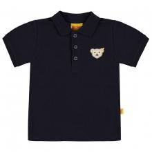 Steiff Basic Poloshirt, Bär auf Brust