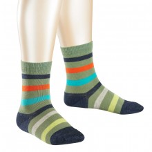 Falke Kinder Streifen Socke - grün