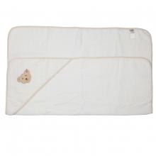 Steiff-Frottee Kapuzenbadetuch 100x100cm - weiß