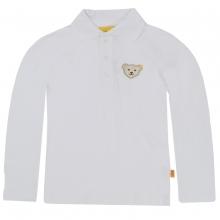 Steiff Langarm Poloshirt - weiß
