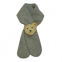 Steiff Baby Fleece Schal - grau meliert