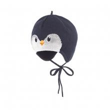 Maximo Baby Mütze, Pinguin - blau