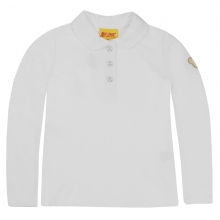 Steiff Basic Picee Poloshirt Mädchen - weiß