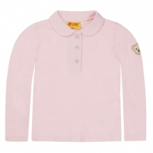 Steiff Basic Picee Poloshirt Mädchen - rosa