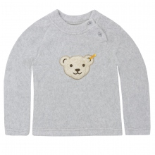 Steiff Basic Fleece Pulli - grau meliert