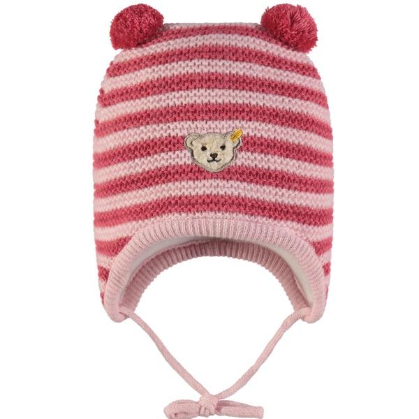 Steiff Baby Strick-Mütze, gestreift