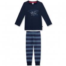 Sanetta Schlafanzug Ju lang, Flugzeug - blau