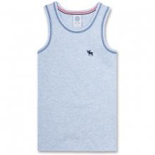 Sanetta Junge Unterhemd, Elch - blau meliert