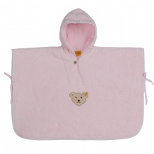 Steiff-Frottee Badeponcho - rosa
