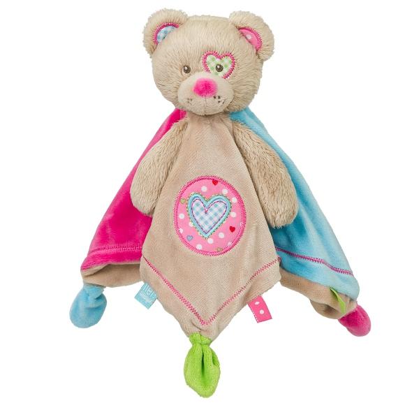 Lief! Schmusetuch Bär Herz pink 26cm