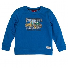 Salt & Pepper Sweatshirt Traktor - blau