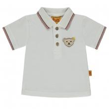 Steiff Pique Poloshirt Ju.weißer Kragen - weiß