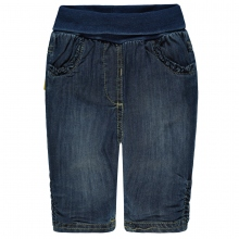 Steiff Baby Jeans Hose Mäd. Rüschen - jeans-blau