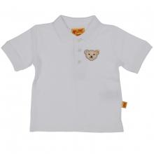 Steiff Basic Poloshirt, Bär auf Brust - weiß