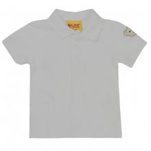 Steiff Basic Poloshirt, Bär auf Arm - weiß