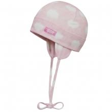 Döll Bindemütze Jersey, Wolken,rosa - rosa/pink