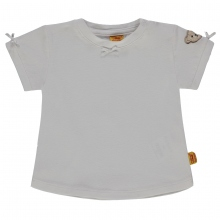 Steiff Baby T-Shirt Mäd.Schleifchen,weiß