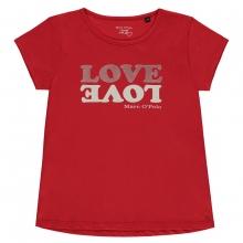 Marc O´Polo T-Shirt Mäd. LOVE - rot