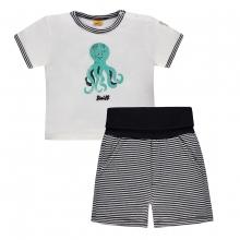 Steiff Baby 2tlg.T-Shirt+Shorts Ju.Krake - marine