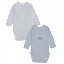 Petit Bateau W` body blau/weiß,2er Pack.