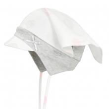 Döll Kopftuchmütze mit Schirm zum Binden - moosgrün