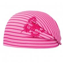 Döll Bohomütze Jersey Ringel,Schmetterl. - rosa-pink
