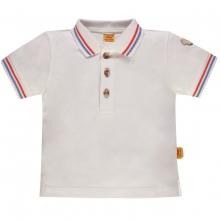 Steiff Baby Poloshirt Ju. uni, College - weiß