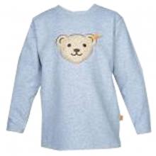 Steiff Basic Sweatshirt, Quietsch Bär - grau meliert