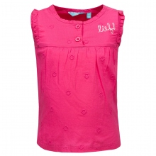 Lief! T-Shirt o.Arm Rüschen - pink