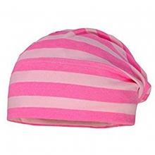 Maximo Beanie Mütze geringelt pink/rosa