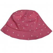 Maximo Hut pink, weiße Punkte
