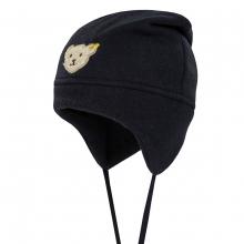 Steiff Basic Fleece Mütze mit Knoten - marine