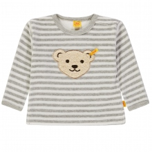 Steiff Sweatshirt Nicky grau gestreift