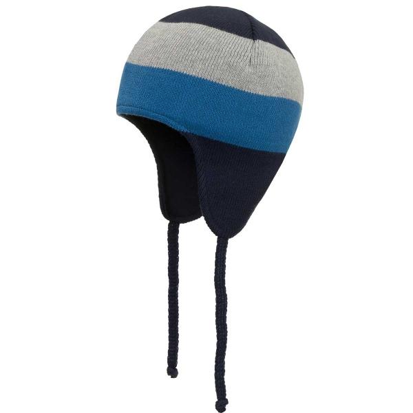Döll Inka Bindemütze Strick grau/blau