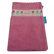 Lief! Waschlappen rosa Herzblümchen