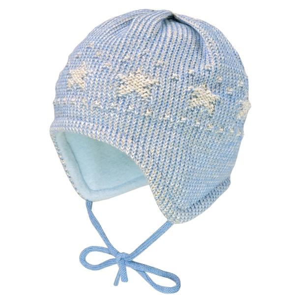 Maximo Baby Strick Mütze beige Sterne