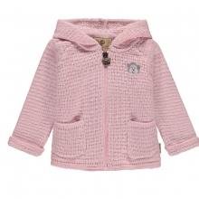 Mother Nature Strickjacke Kapuze rosa