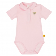 Steiff-Single Jersey Body, runder Kragen - rosa
