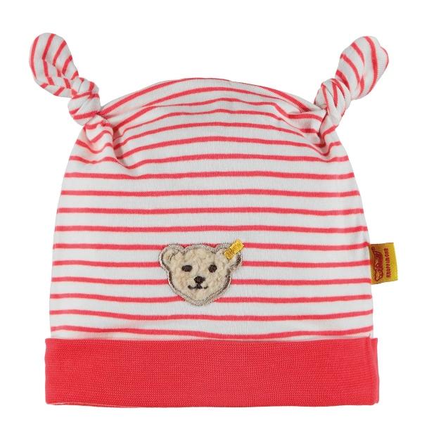 Steiff Baby Mütze Mäd. Streifen Knoten