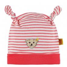 Steiff Baby Mütze Mäd. Streifen Knoten - rot