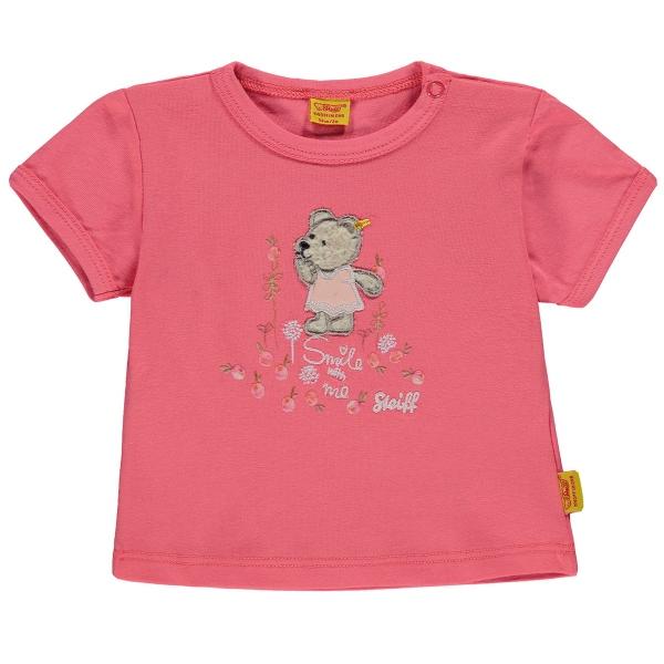 Steiff Baby T-Shirt Mäd. Peach Bär