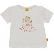 Steiff Baby T-Shirt Mäd. Peach Bär - creme
