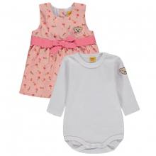 Steiff Baby 2tlg.Kleid+Body Peach