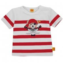 Steiff Baby T-Shirt Ju. Ringel Pirat - rubinrot