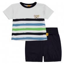 Steiff Baby 2tlg.T-Shirt+Shorts Ju.