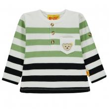 Steiff T-Shirt lg.Arm Ju.blau-grün Ringe - original