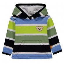 Steiff Sweatshirt Ju. 4-farbig Kapuze