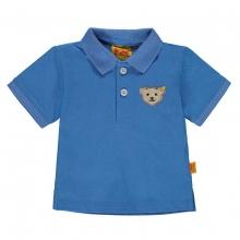 Steiff Pique Poloshirt Ju. blau